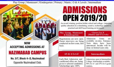 Admissions open 2019/20