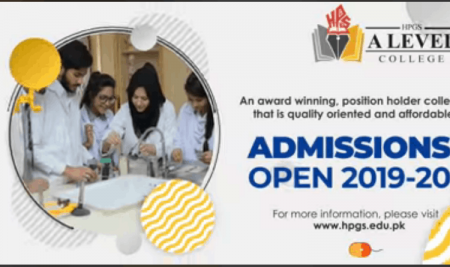 A Level Admissions Open 2019-20