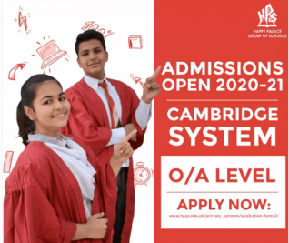 O/A Level Admissions Open 2020-21