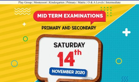 Mid Term Examinations with scaled-down syllabus for the Academic Year 2020/21