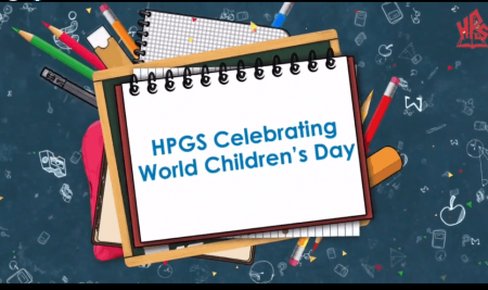 HPGS Celebrating World Children's Day 2020 with their young learner.
