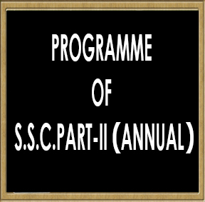 Programme Of S.S.C.Part-II (Annual) Practical Examination-2016
