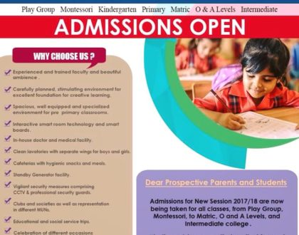 Admissions Open 2017