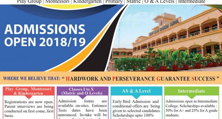 Admissions Open 2018/2019