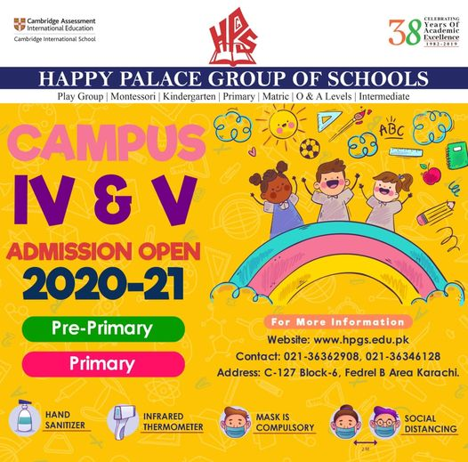 Admissions Open 2020-21!