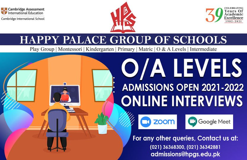 O/A LEVELS Admissions Open 2021-22