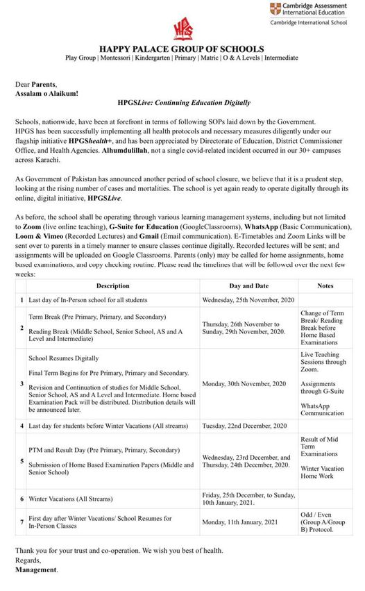 Policy Document and Important timelines