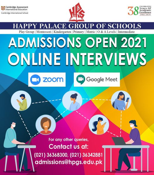 Online Admissions Open 2021!